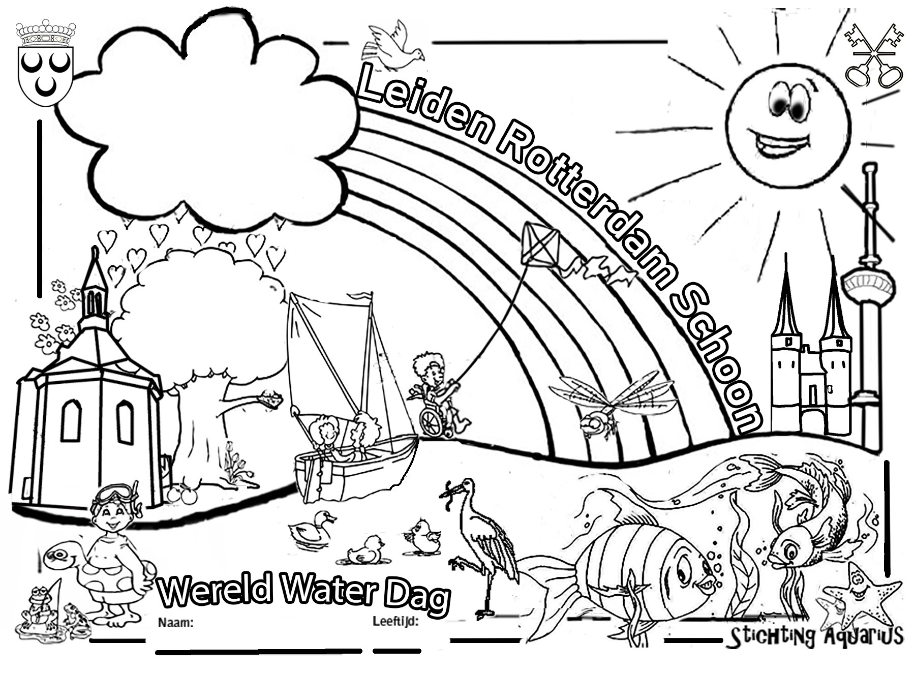 De Wereld Water Dag 2019 Kleurplaat Is Uit 12e Nationale